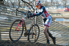 гонка cyclocross Стоковое фото RF