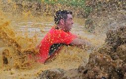 Гонка Farinato - весьма гонка препятствия в Gijon, Испании Стоковое Изображение