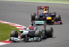 Гонка GP формулы 1 - Michael Schumacher Стоковая Фотография RF