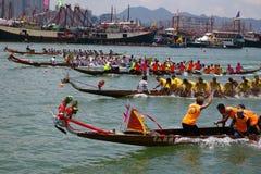 гонка Hong Kong дракона шлюпки стоковое изображение rf