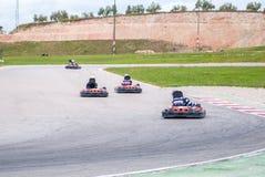 Гонка Karting Стоковые Фото