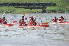 гонка kayak Стоковое Изображение RF