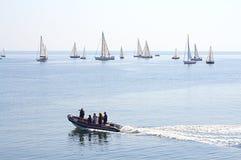 Гонка Keelboats Стоковые Фото