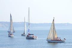 Гонка Keelboats Стоковое Изображение