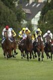 гонка leger 65 лошадей участвуя в гонке tattersalls st Стоковые Фотографии RF
