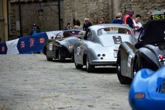 Гонка miglia Mille историческая, Италия v стоковая фотография rf