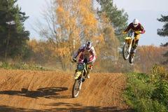 гонка motocross Стоковые Изображения RF