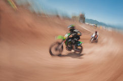 Гонка Motocross Стоковое Изображение