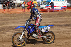 Гонка Motocross Стоковое Изображение RF