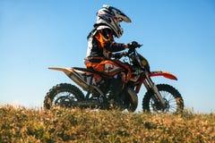 Гонка Motocross Стоковая Фотография