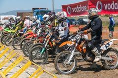 Гонка Motocross Стоковые Фотографии RF