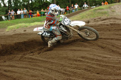 гонка motocross Стоковые Фото