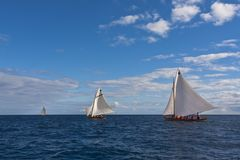 Гонка regatta шлюпки китоловства Стоковая Фотография