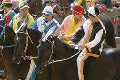 гонка s siena palio лошади Стоковое фото RF