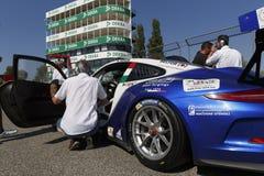 Гонки автомобиля Италии чашки Порше Carrera стоковое изображение rf