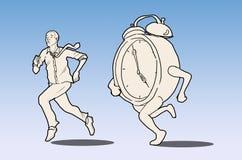 Гонки бизнесмена против времени Стоковые Изображения RF
