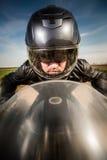 Гонки велосипедиста на дороге Стоковые Изображения RF