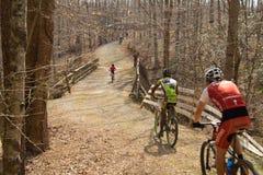 Гонки горного велосипеда Стоковая Фотография