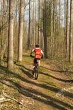 Гонки горного велосипеда Стоковые Изображения