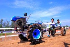 Гонки грязи трактора в Таиланде Стоковые Фото