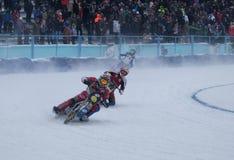 Гонки мотоцикла на льде Стоковое Изображение RF