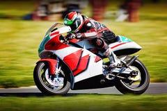 Гонки мотоцилк Ssport Стоковые Изображения
