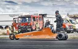 Гонки сопротивления Норвегии, конкуренция автомобиля перемещаясь Стоковое фото RF