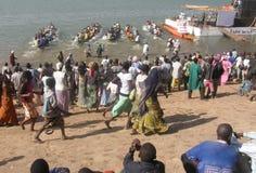 Гонки фестиваля Нигера Стоковое фото RF