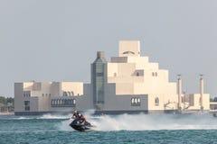 Гонки лыжи двигателя в Дохе, Катаре Стоковые Изображения