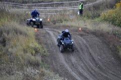 Гонки ATVs Стоковое Изображение
