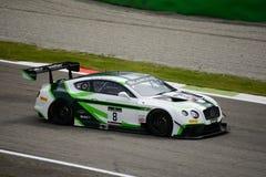 Гонки Bentley серии Blancpain GT континентальные на Монце Стоковые Изображения