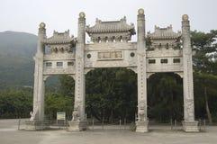 Гонконг большое Tian Tan Будда и монастырь Po Lin Стоковая Фотография