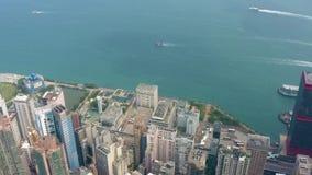 Гонконг, воздушный отснятый видеоматериал от пика Виктория видеоматериал