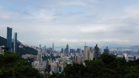 Гонконг в красивой перспективе стоковое фото rf