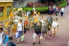 Гонконг, Китай: Автобусная станция Tuen Mun Стоковая Фотография RF