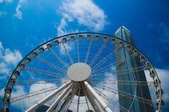 Гонконг, Китай, 2017 - колесо замечания Гонконга стоковые изображения