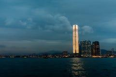ГОНКОНГ, КИТАЙ 11-ОЕ ЯНВАРЯ: Взгляд ICC Стоковая Фотография RF
