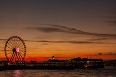 Гонконг колесо ferris стоковое фото rf