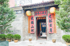 Гонконг - 4-ое декабря 2015: Man Mo Temple известное историческое место i Стоковое Изображение