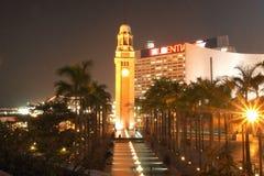 ГОНКОНГ - 17-ОЕ ЯНВАРЯ: Башня с часами на 17,2015 -го января Стоковая Фотография RF