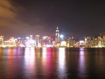ГОНКОНГ - 17-ОЕ ЯНВАРЯ: Горизонт Гонконга на 17,2015 -го января Стоковые Фотографии RF