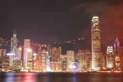 ГОНКОНГ - 17-ОЕ ЯНВАРЯ: Горизонт Гонконга на 17,2015 -го января Стоковая Фотография