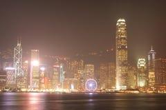 ГОНКОНГ - 17-ОЕ ЯНВАРЯ: Горизонт Гонконга на 17,2015 -го января Стоковое Фото