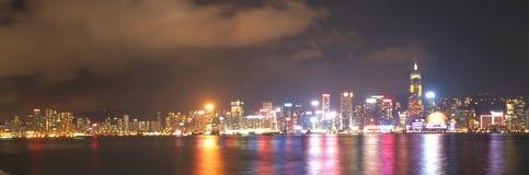 ГОНКОНГ - 17-ОЕ ЯНВАРЯ: Горизонт Гонконга 17-ого января 2015 Стоковая Фотография