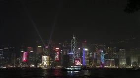 Гонконг: Симфонизм светов сток-видео