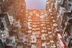 Гонконг толпился взгляд квартиры резиденции нижний Стоковая Фотография RF