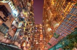 Гонконг толпился прожитие стоковые фото