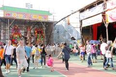 Гонконг: Фестиваль 2013 плюшки Cheung Chau Стоковое фото RF