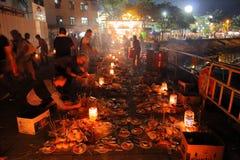 Гонконг: Фестиваль 2016 плюшки Cheung Chau Стоковая Фотография