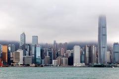 ГОНКОНГ, CHINA/ASIA - 29-ОЕ ФЕВРАЛЯ: Взгляд горизонта в Hong стоковые изображения